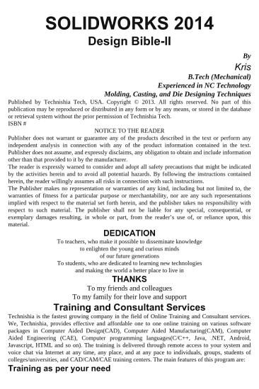 SolidWorks 2014 Design Bible II PDF