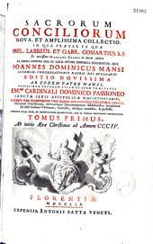 Sacrorum conciliorum nova et amplissima collectio