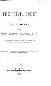 "The ""civil Code"" in California"