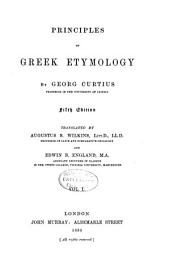 Principles of Greek Etymology: Volume 1