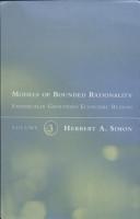 Models of Bounded Rationality  Empirically grounded economic reason PDF
