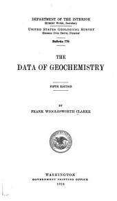 The data of geochemistry