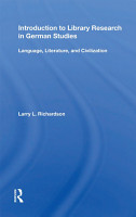 Introduction To Library Research In German Studies PDF