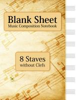 Blank Sheet Music Composition Notebook   8 Staves without Clefs PDF
