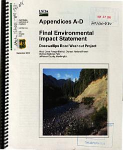 Olympic National Forest  N F    Dosewallips Road Washout Project PDF