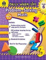 Daily Warm Ups  Problem Solving Math Grade 6 PDF