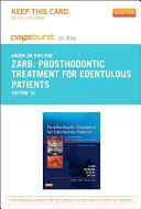 Prosthodontic Treatment for Edentulous Patients  Pageburst E book on Kno Retail Access Card PDF