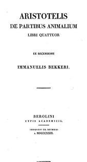 De partibus animalium libri quattuor