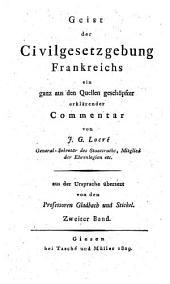 Geist des Gesetzbuches Napoleons: Volume2