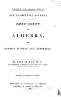 New Elementary Algebra PDF