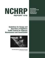 Guidelines for Design and Operation of Nighttime Traffic Control for Highway Maintenance and Construction PDF