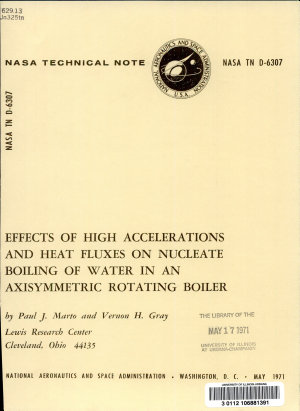 Effects of High Accelerations and Heat Fluxes on Nucleate Boiling of Water in an Axisymmetric Rotating Boiler PDF