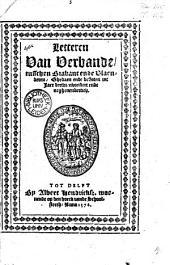 Letteren van verbande tusschen Brabant ende Vlaenderen, ghedaen ende besloten int jaer derthienhondert ende neghenendertich
