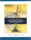 How To Design And Evaluate Research In Education Book PDF