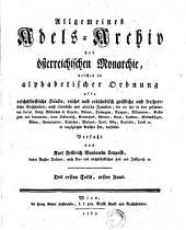 Allgemeines Adels-Archiv der österr. Monarchie