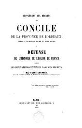Histoire de l'Eglise de France, composée sur les documents originaux et authentiques: Volume2