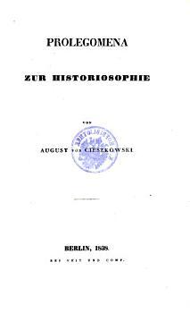 Prolegomena zur Historiosophie PDF