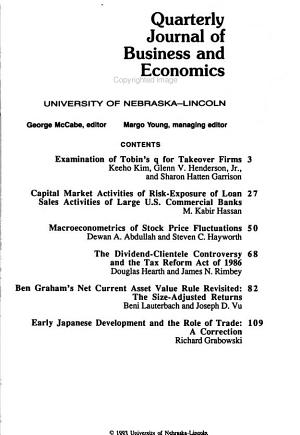 Quarterly Journal of Business and Economics PDF