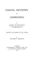 Essays  Reviews  and Addresses PDF