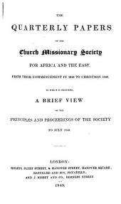 Missionary Papers: Issues 1-63