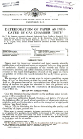 Deterioration of paper as indicated by gas chamber tests: Volumes 601-625