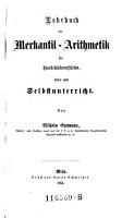 Lehrbuch der Merkantil Arithmetik PDF