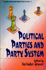 Political Parties and Party System