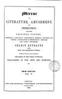 THE MIRROR OF LITERATURE AMUSEMENT   AND INSTRUCTION   VOL V PDF