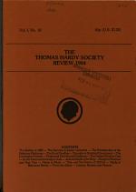 The Thomas Hardy Society Review