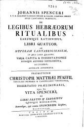 De legibus hebraeorum ritualibus earumque rationibus