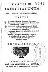 Fascis III: exercitationum philologico-historicarum ...