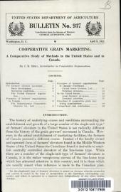 Cooperative grain marketing: a comparative study of methods in the United States and in Canada