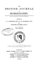 The British Journal of Homoeopathy: Volume 28