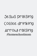 Jesus Praising Coffee Drinking Arrow Raising