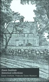 Essex Institute Historical Collections