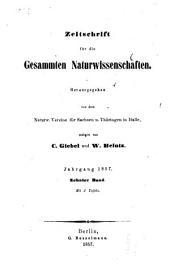 Zeitschrift für Naturwissenschaften: Band 10