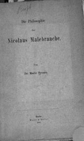 Die Philosophie des Nicolaus Malebranche