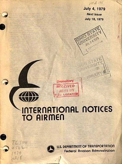 International Notices to Airmen PDF