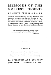 Memoirs of the Empress Eugenie, by Comte Fleury