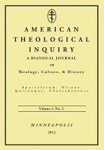 American Theological Inquiry, Volume Five, Issue Two