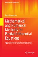 Mathematical and Numerical Methods for Partial Differential Equations PDF