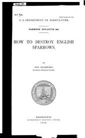 How to Destroy English Sparrows