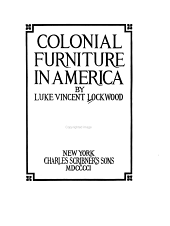 Colonial Furniture in America