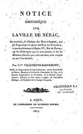 Notice historique sur la ville de Nérac...