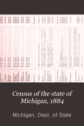 Census of the State of Michigan, 1884: Volume 1