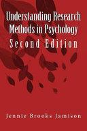 Understanding Research Methods in Psychology Book