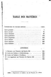 Histoire de Charles XII [i. e. douzième]: Volume1