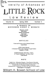 University of Arkansas at Little Rock Law Review PDF
