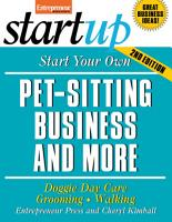 Start Your Own Pet Sitting Business and More PDF