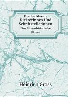 Deutschlands Dichterinnen Und Schriftstellerinnen PDF